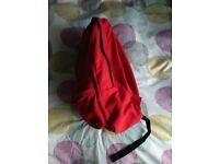 Vans red backpack. Worn twice. Practically brand new.