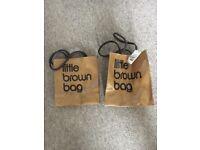 Little brown bag x 2