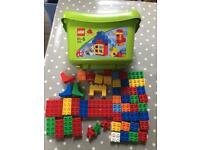 Box of Duplo Lego