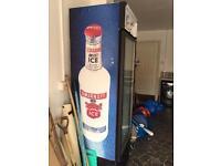 Upright drinks fridge