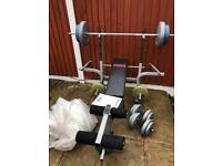 Multifunctional Bench With 70kg Weights Set. •Can Deliver•
