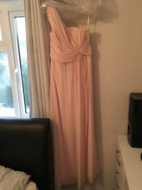 Brand new dessy bridesmaid dress for sale-size 10-blush