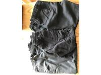 4 pairs of boys school trousers and 1 pair school short
