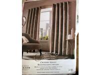 Brand new crushed velvet curtains 90x90