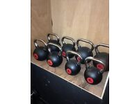 160kg Rubber Coated Kettlebell Set - Weights Gym