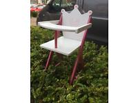 Wooden child high chair