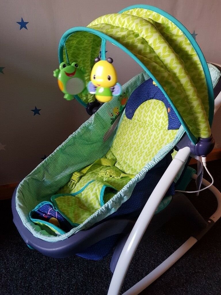 Brightstarts rocker and napper with lights vibration and sounds