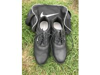 Nike Golf Shoes - Size 7 Worn once (inc. Nike boot bag)