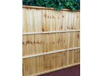 2 x 6ft wide 5 ft high fence panels new