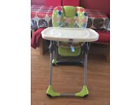 IN EXCELLENT CONDITION CHICCO POLLY HIGHCHAIR