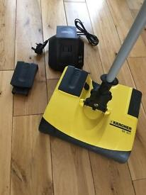 Karcher Electric Broom with spare battery and charger