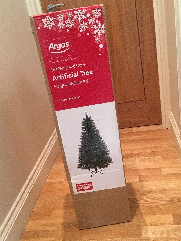 6ft Berry & Cone Artificial Christmas Tree