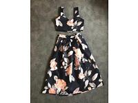Flowery co-ord set (top and skirt)