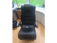 X Rocker gaming Chair with wireless dongle and power supply