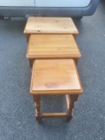 Solid Pine Nest of Tables