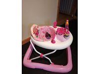 Baby walker/ Bright starts pink