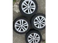 """Astra h 17"""" wheels and near new tyres….Reduced price"""
