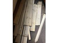 IKEA pleated Venetian blinds, various sizes, white wood