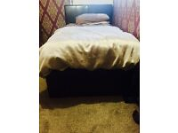 Leather Storage Bed, Collection only, Bed Frame only mattress not Included