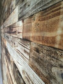 RUSTIC CLADDING TIMBER 20M2 RECLAIMED PALLET WOOD NOT WALL PAPER