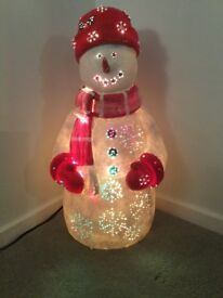 Outdoor/Indoor Fibre Optic Snowman