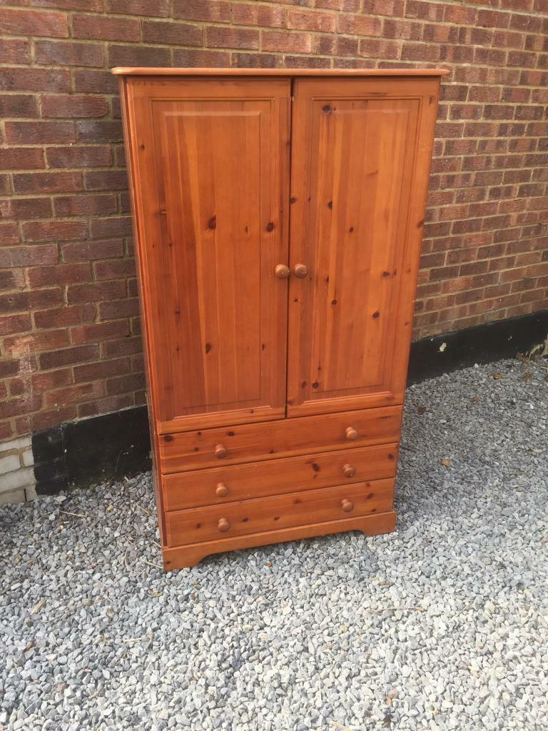 Pine Wardrobe/Tall boy, LOCAL DELIVERY POSSIBLE.