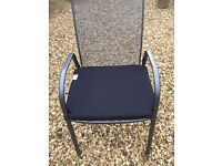Garden 4 chair seat pads. exc condition