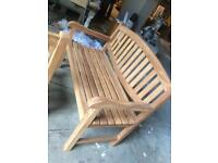 Solid teak bench sale