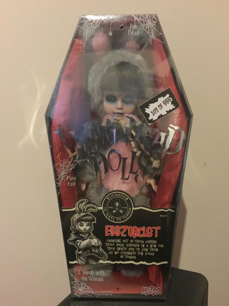 Living Dead Doll SEALED Very Rare - 10th Anniversary Edition - Eggzorcists UK Version