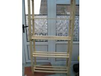 Brand new unused 5 shelf storage/ display/ bookcase unit in pine wood can be painted any colour