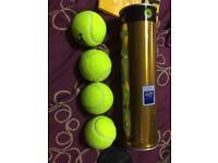 Brand new tennis balls
