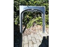 cast iron heavy antique fireplace