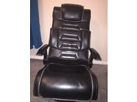 Black,xrocker,chair swivel,round base,doesn't include cables.