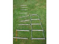 Old rope ladder