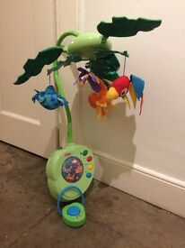 Fisher Price Rainforest musical mobile, nearly new condition, with music and lights