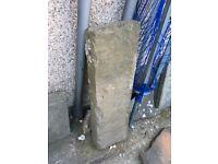 Reclaimed flagstone steps