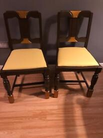 2 Wooden chairs - OPEN TO OFFERS!!!FREE DELIVERY