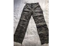 Leather trouser. Snake skin effect