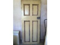 Door - Original Victorian tenement 4-panel wood door. Dimensions: 832mm x 2005mm
