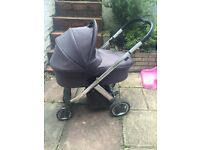 Limited edition Oyster Plush Travel System complete with carry cot & stroller