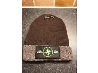 Stone Island Winter Beanie Brown with Badge Detail