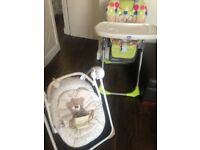 Baby stuff high chair , bouncer