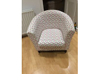 Tub Chair, matching stool available also.
