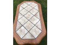 Heavy solid oak coffee table