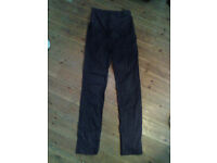 Pair of Black Maternity Trousers H&M Mama UK size 10, leg 32 approx