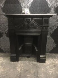 Stunning Reclaimed Cast Iron Metal Fireplace Surround - Uk Delivery