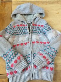 Girls hoodie by Fat Face Age 8-9