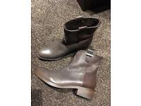 Brown leather Faith boots size 6