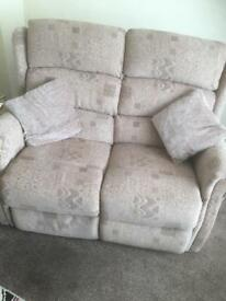 2 x Two seater recliner sofas