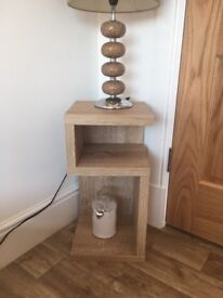 Solid lamp unit and Tv table with storage